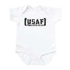 Proud USAF SisNlaw- Tatterd Style Infant Bodysuit