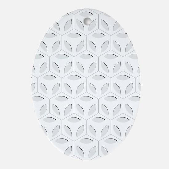 Cute Hexagon Oval Ornament