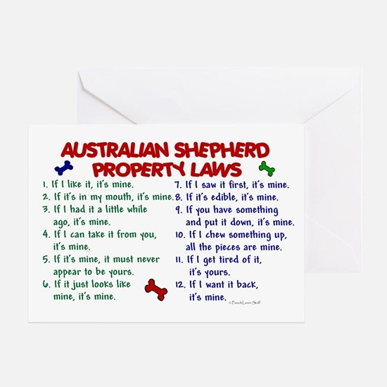 Australian Shepherd Property Laws 2 Greeting Card