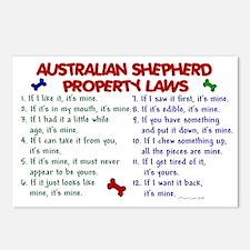 Australian Shepherd Property Laws 2 Postcards (Pac