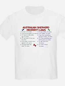 Australian Shepherd Property Laws 2 T-Shirt
