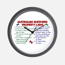 Australian Shepherd Property Laws 2 Wall Clock