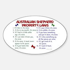 Australian Shepherd Property Laws 2 Oval Decal