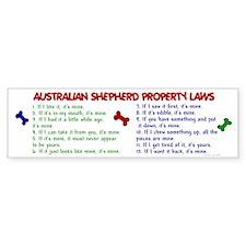 Australian Shepherd Property Laws 2 Car Sticker