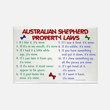 Australian Shepherd Property Laws 2 Rectangle Magn