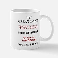 Great Dane Walking Answers Mug
