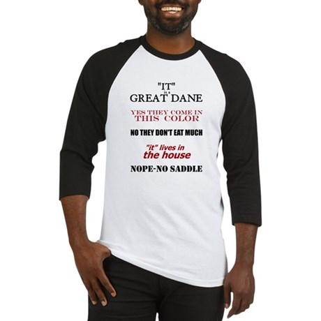 Great Dane Walking Answers Baseball Jersey