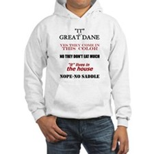 Great Dane Walking Answers Hoodie Sweatshirt