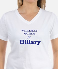 """Wellesley Women for Hillary"" V-Neck T-Shirt"
