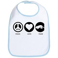 Peace Love Tiger Bib