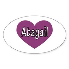 Abagail Oval Decal