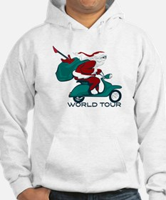 Santa's World Tour Scooter Hoodie