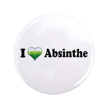 "I Love Absinthe 3.5"" Button"