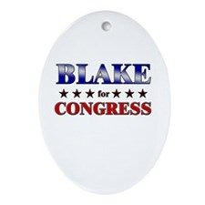 BLAKE for congress Oval Ornament