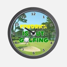 Fredrick is Out Golfing - Wall Clock