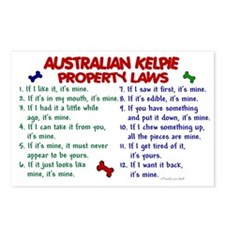 Australian Kelpie Property Laws 2 Postcards (Packa