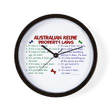 Australian Kelpie Property Laws 2 Wall Clock