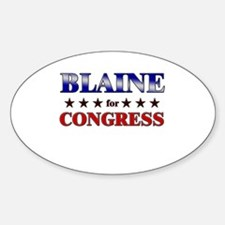 BLAINE for congress Oval Decal
