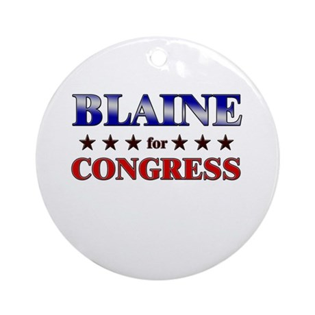BLAINE for congress Ornament (Round)