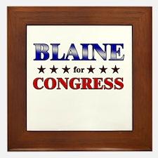 BLAINE for congress Framed Tile