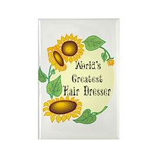 World's Greatest Hair Dresser Rectangle Magnet