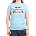 US Army - OEF - Land of the F Women's Pink T-Shirt