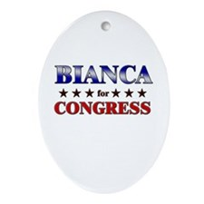 BIANCA for congress Oval Ornament