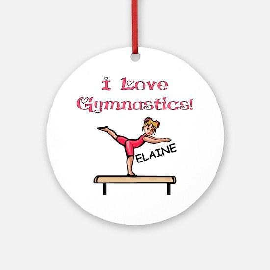 I Love Gymnastics (Elaine) Ornament (Round)