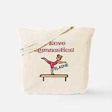 I Love Gymnastics (Elaine) Tote Bag