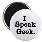 I Speak Geek Magnet