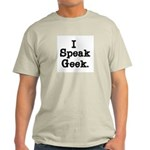 I Speak Geek Ash Grey T-Shirt