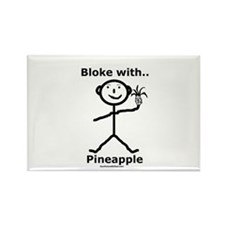 Bloke with Pineapple Rectangle Magnet (10 pack)
