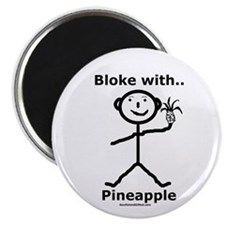 """Bloke with Pineapple 2.25"""" Magnet (100 pack)"""
