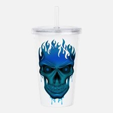 Cool Ghost face Acrylic Double-wall Tumbler