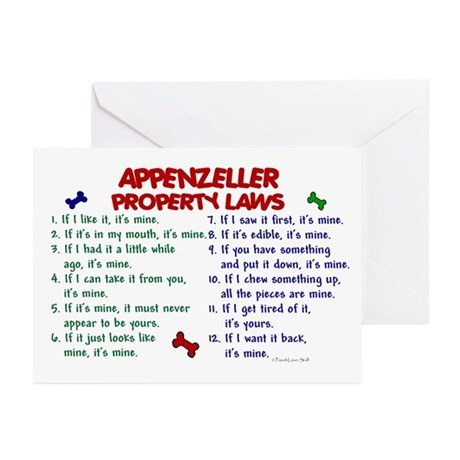 Appenzeller Property Laws 2 Greeting Cards (Pk of