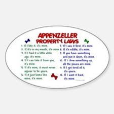 Appenzeller Property Laws 2 Oval Decal