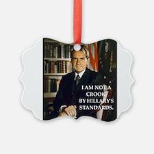nixon and hillary clinton Ornament