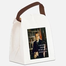 nixon and hillary clinton Canvas Lunch Bag
