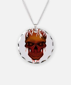 Flame Skull Necklace