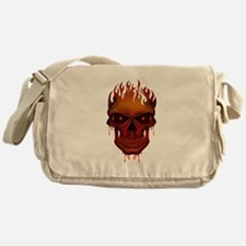 Flame Skull Messenger Bag