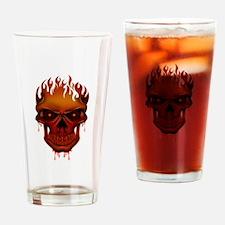 Flame Skull Drinking Glass