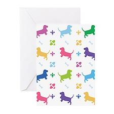 Basset Hound Designer Greeting Cards (Pk of 20)