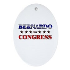 BERNARDO for congress Oval Ornament