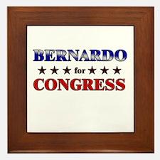BERNARDO for congress Framed Tile