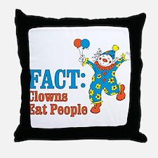 clowns eat people Throw Pillow