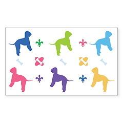 Bedlington Terrier Designer Rectangle Decal