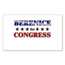 BERENICE for congress Rectangle Decal