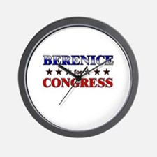 BERENICE for congress Wall Clock