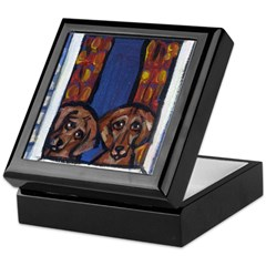 DACHSHUND window Design Keepsake Box