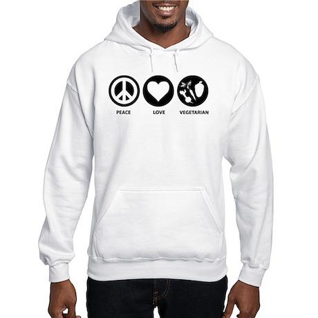 Peace Love Vegetarian Hooded Sweatshirt
